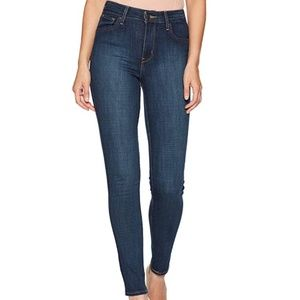Levi's high rise dark wash skinny jeans